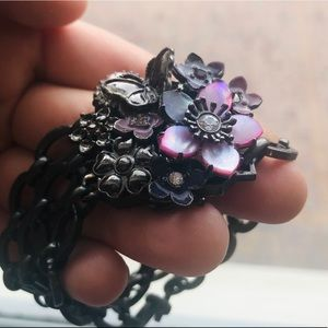 Vintage Juicy Couture Flower & Butterfly Bracelet